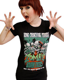 Zombie Brain Eaters Womens T Shirt