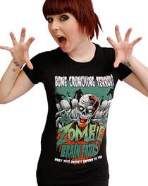 Zombie Brain Eaters Womens T Shirt