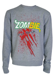 Zombie Eat Flesh Grey Unisex Sweatshirt
