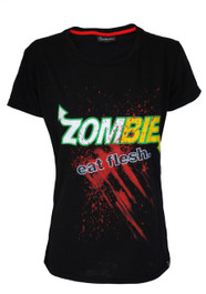 Zombie Eat Flesh Womens T Shirt