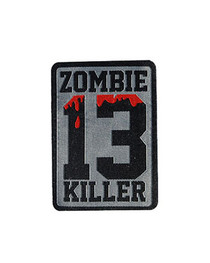 Zombie Killer 13 Iron On Patch