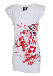 Zombie Killer 13 White Fitted T Dress