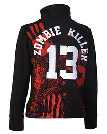 Zombie Killer 13 Womens Zip Jacket