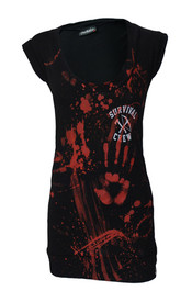 Zombie Killer Black Fitted T Dress