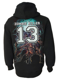 Zombie Killer BLUE Zip Hood