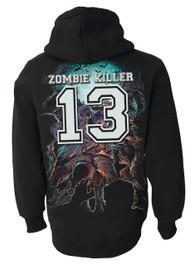 Zombie Killer BLUE Zip Hood