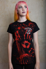 Zombie Killer Womens Black T Shirt