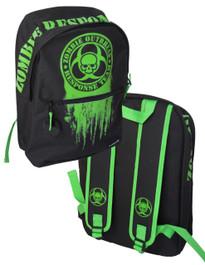 Zombie Outbreak Green Backpack
