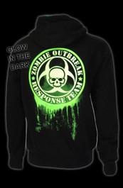 Zombie Response Glow In The Dark Zip Hood