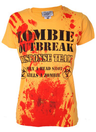 Zombie Response Womens Dark Yellow T Shirt