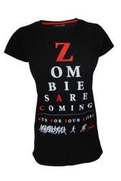 Zombie Sight Womens Black T Shirt