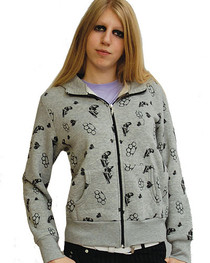 Grey Knuckle Duster Womens Zip Hood
