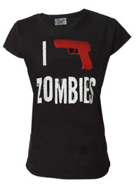 I Shoot Zombies Womens T Shirt