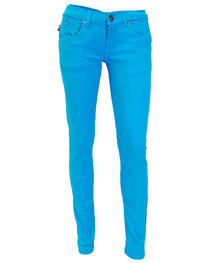 Bright Blue Low Rise Skinny Jeans