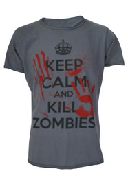 Keep Calm Kill Zombies Dark Grey T-Shirt