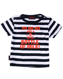 Stripey Yo Ho Ho And A Bottle Of Milk Kids T Shirt
