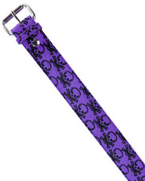 Purple Skull Fur Belt 38mm