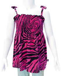 Pink Zebra Girls Dress