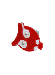 Red Plastic Owl Ring