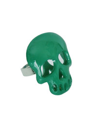 Green Plastic Mirrored Skull Ring
