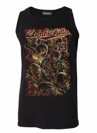 Zombie Killer RED Black Cotton Vest