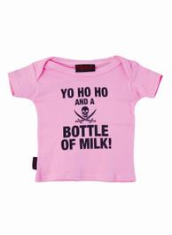 Pink Yo Ho Ho Milk Kids T Shirt