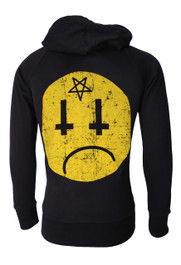 Satan Smiley Cotton Zip Hood (Unisex)