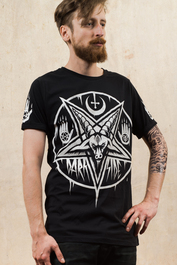 Pentagram Baphomet Mens T Shirt