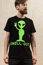 Alien Chill Out Mens T Shirt