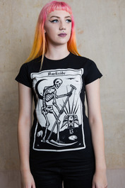 Death Tarot Card Womens T Shirt