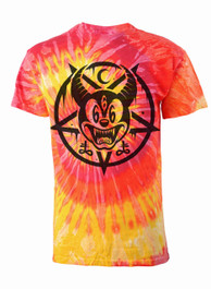 Mickey 666 Fluorescent Tie Dye T Shirt