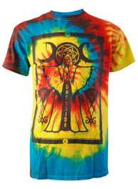 Cult Priest Rainbow Tie Dye T Shirt