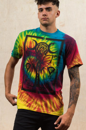 Cult Priest Rainbow Tie Dye T Shirt