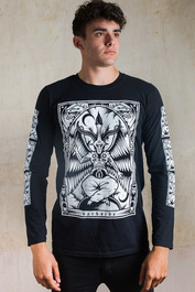 Baphomet Mens Long Sleeve T Shirt