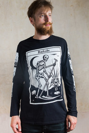 Death Tarot Card Mens Long Sleeve T Shirt