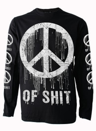 Peace of Shit Mens Long Sleeve T Shirt