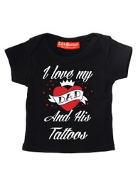 I Love Dad And His Tattoos Baby/Kids T-Shirt