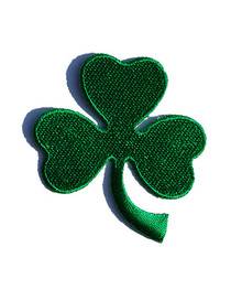 Small Clover Leaf Iron On Patch