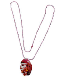 Zombie Girl Necklace With Pink Chain (PD)