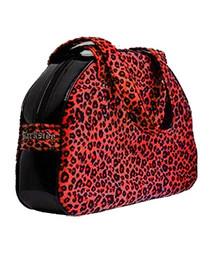 Red Leopard Fur Handbag