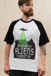 Alien Abduction Baseball T-Shirt