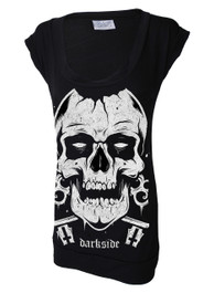 Skull Fitted T Dress