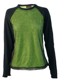 Womens Lime Green Mesh Raglan