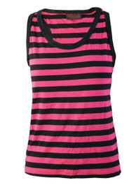 Pink And Black Stripey Vest