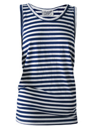 Navy Blue and White Stripey Vest