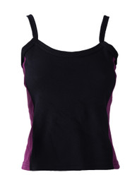 Black Vest With Purple Side Panels