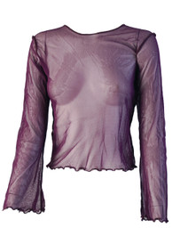 Purple Net Top