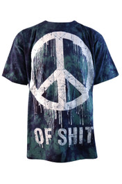 Peace Of Shit Blue And Green Tie Dye T Shirt
