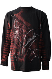 Freddy Red Side Stripe Long Sleeve Tie Dye T Shirt