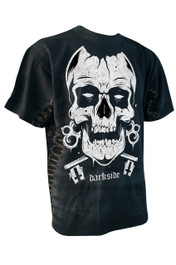 Skull Black Spine Tie Dye T Shirt